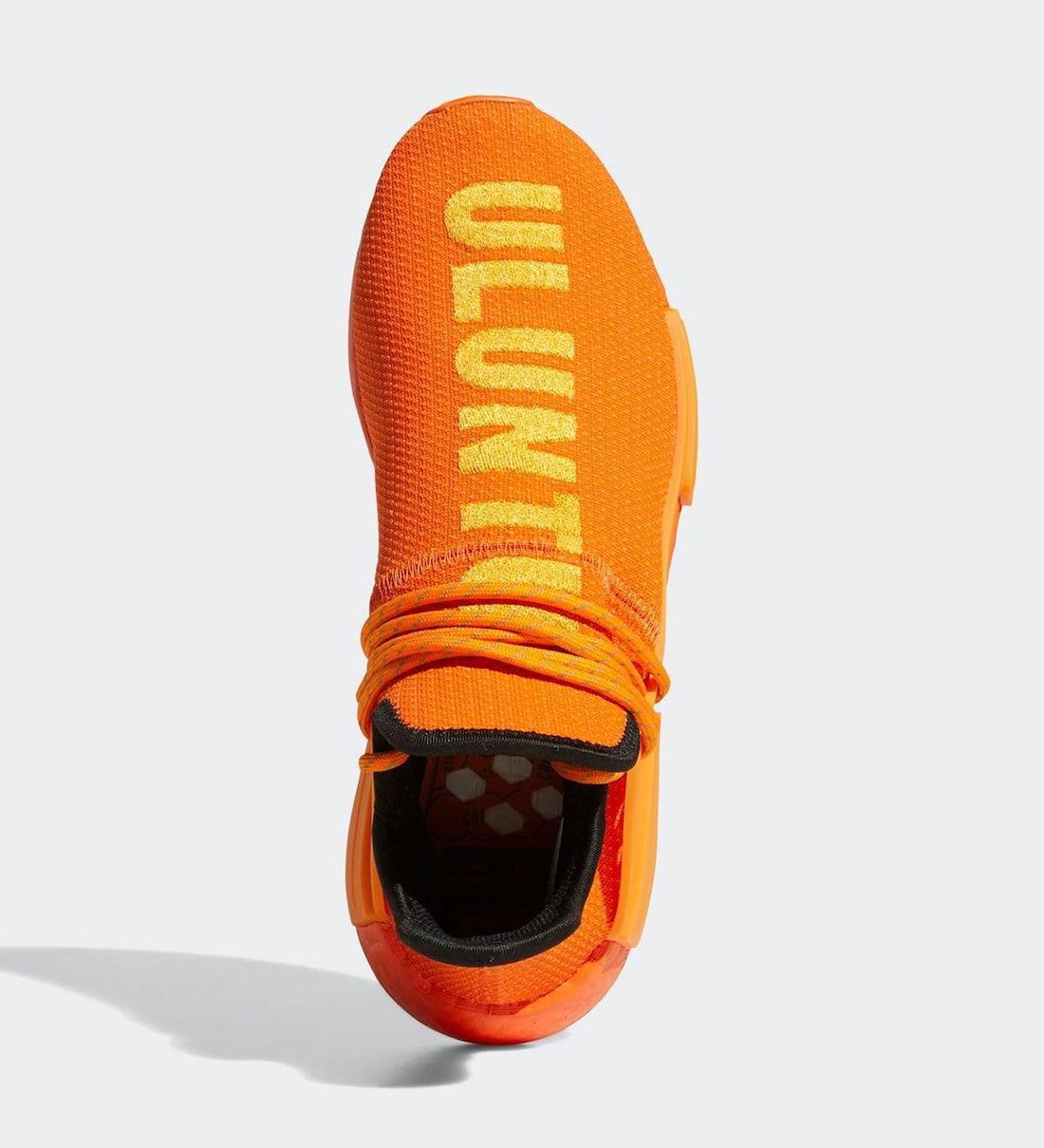 Pharrell adidas NMD Hu Orange GY0095 Release Price