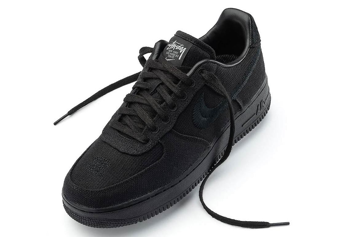 Stussy Nike Air Force 1 Low Black Release Date