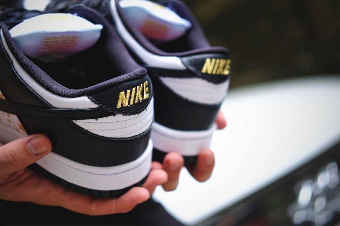 Supreme Nike SB Dunk Low Black Stars DH3228-102 Release Date