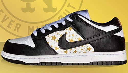 Supreme Nike SB Dunk Low Black White Release Date