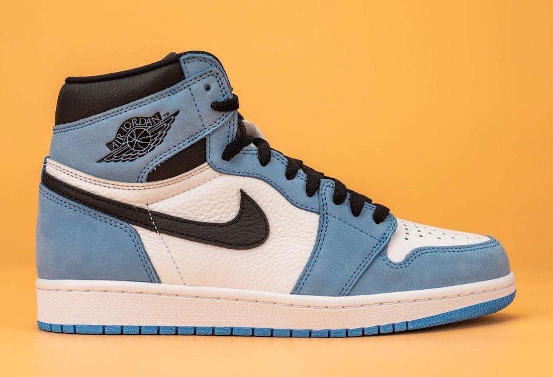 University Blue Air Jordan 1 High OG 555088-134 Release Date