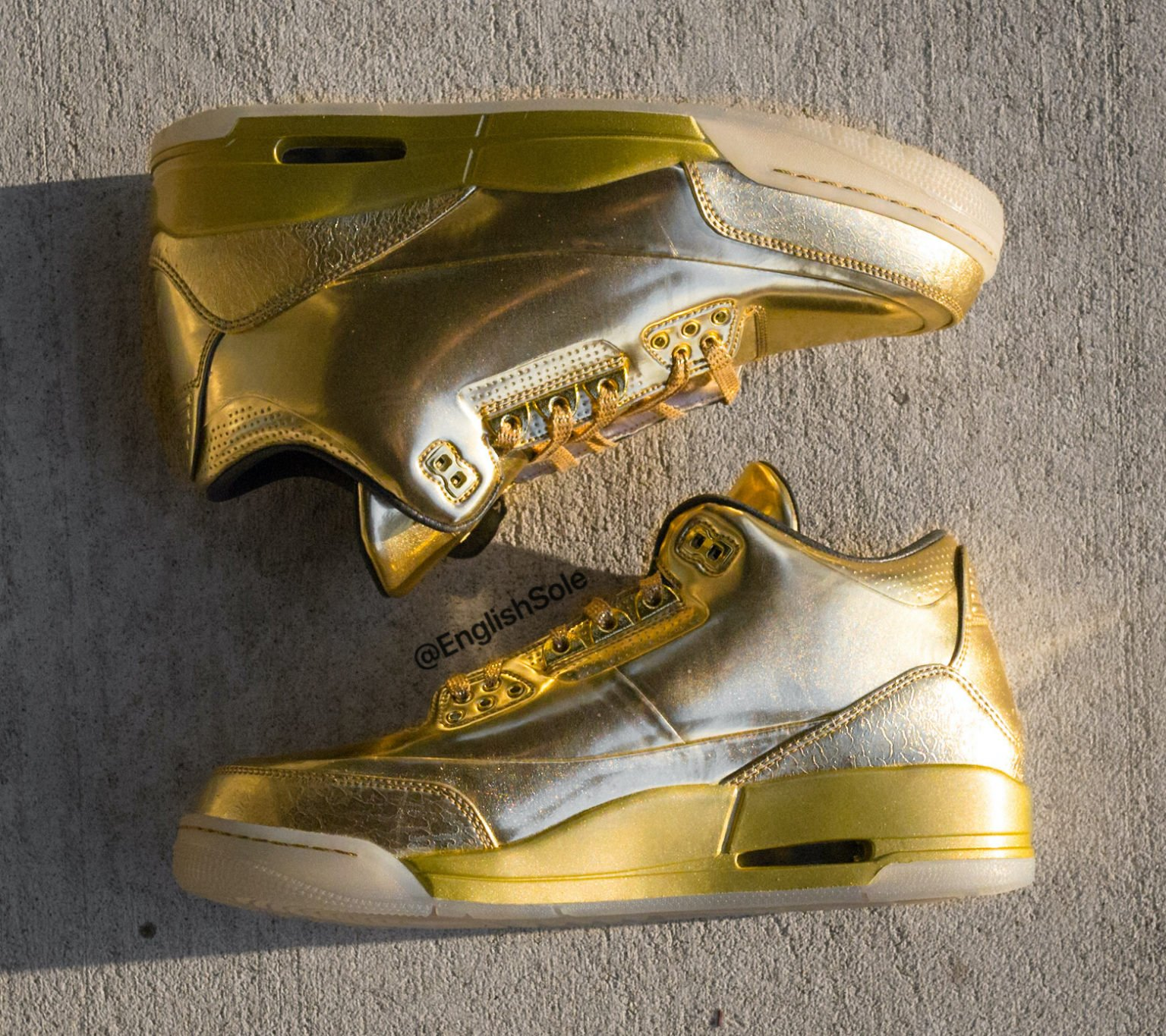 Usher Air Jordan 3 Gold Sample