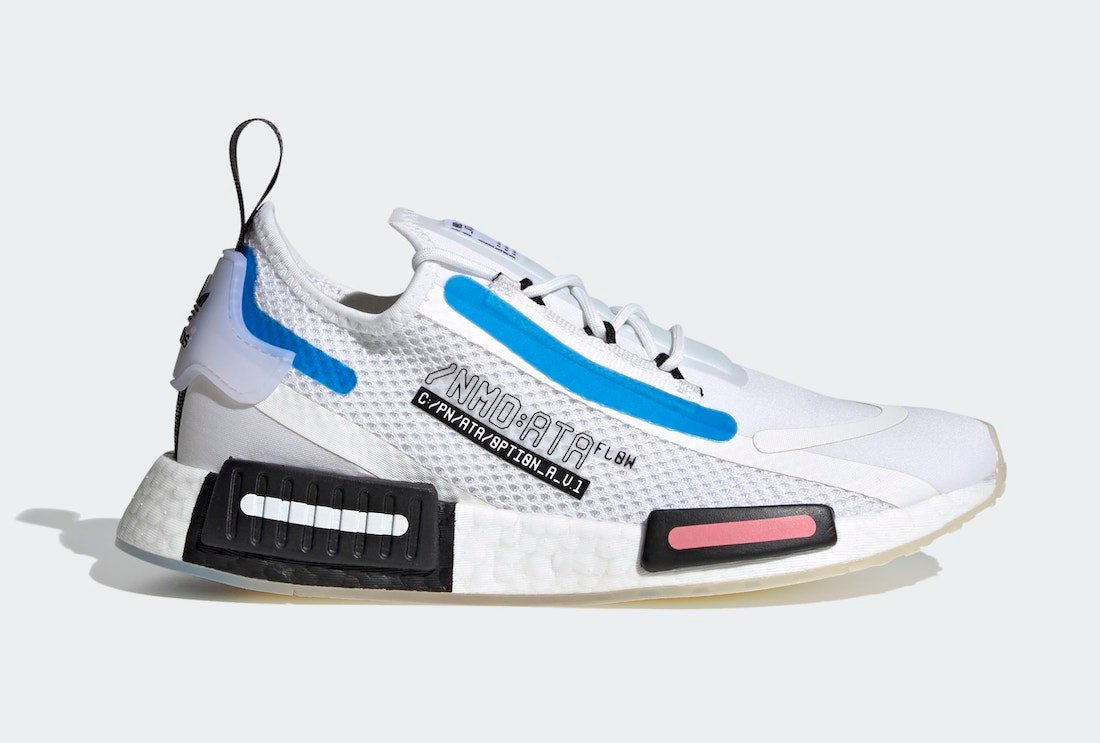 adidas NMD R1 Spectoo White Blue Black FZ3209 Release Date Info