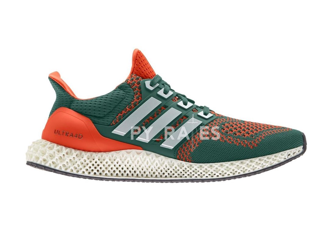 adidas Ultra 4D Miami Hurricanes Release Date Info