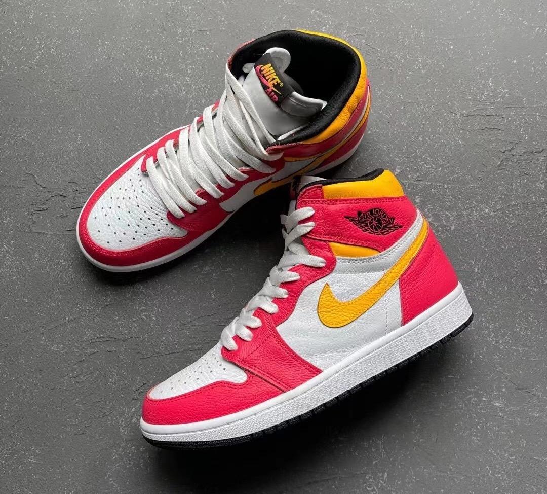 Air Jordan 1 Light Fusion Red Laser Orange 555088-603 Release Details