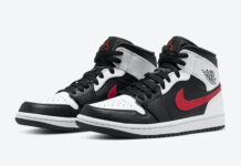 Air Jordan 1 Mid Black Chile Red White 554724-075 Release Date Info
