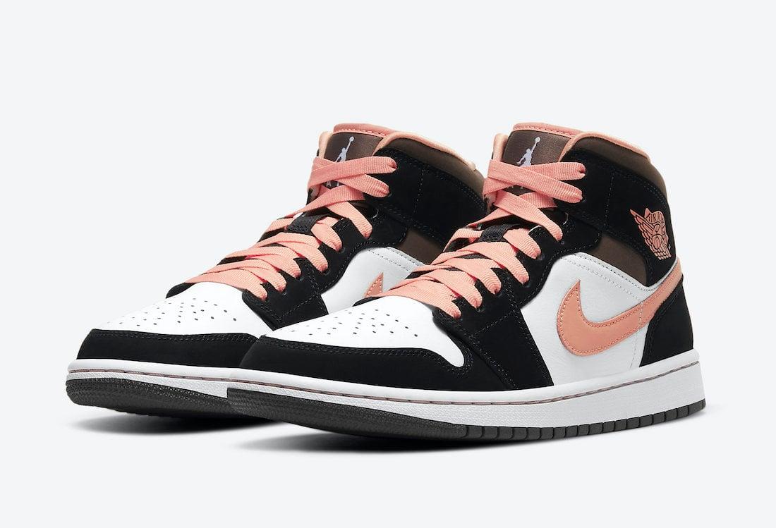 Air Jordan 1 Mid Peach Mocha DH0210-100 Release Date Info