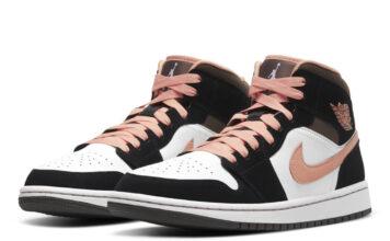 Air Jordan 1 Mid White Black Pink Release Date Info