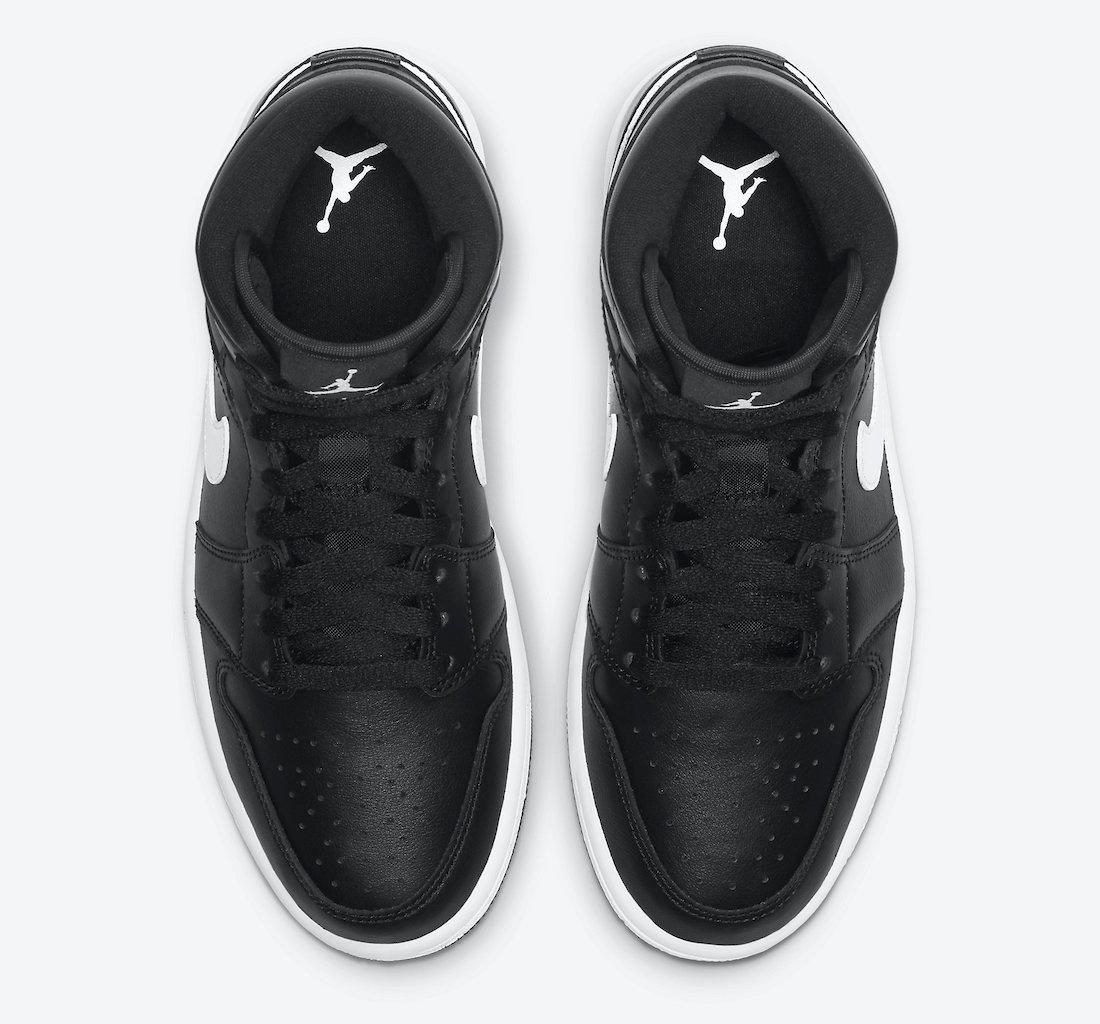 Air Jordan 1 Mid WMNS Black White BQ6472-011 Release Date Info