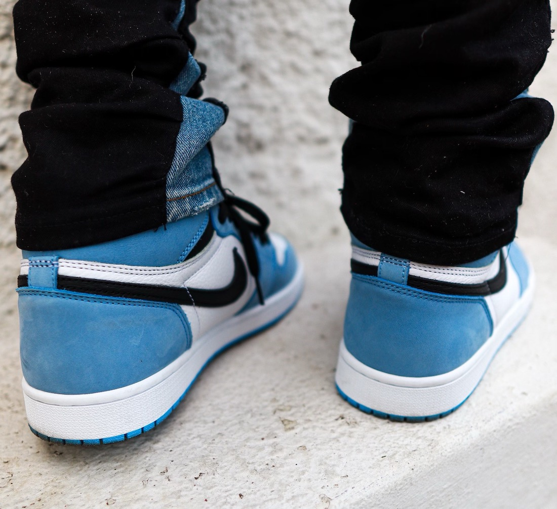 Air Jordan 1 University Blue 555088-134 On Feet