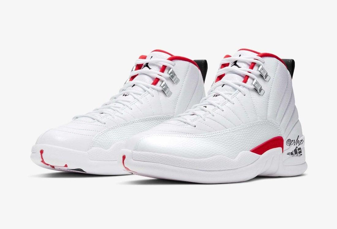 Air Jordan 12 Twist White University Red Black CT8013-106 Mock-Up