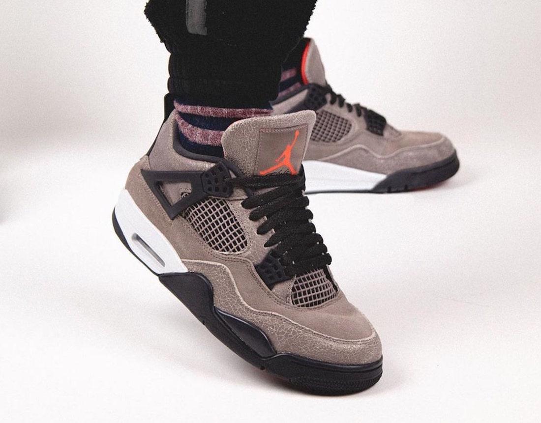 Air Jordan 4 Taupe Haze DB0732-200 On Feet