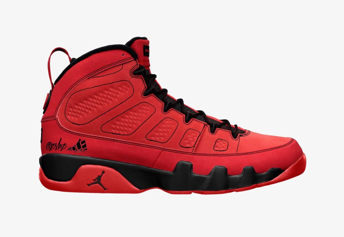 Air Jordan 9 Chile Red Black CT8019-600 Release Date Info