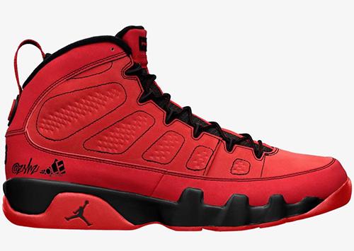 Air Jordan 9 Chile Red Black Release Date