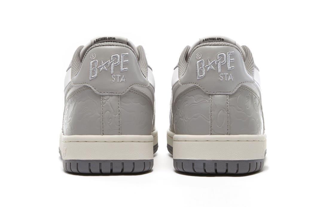 Bape Court Sta Leather Light Grey Cream Release Date
