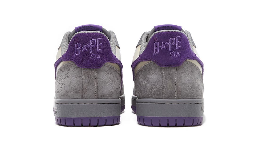 Bape Court Sta Suede Mist Grey Royal Purple Release Date