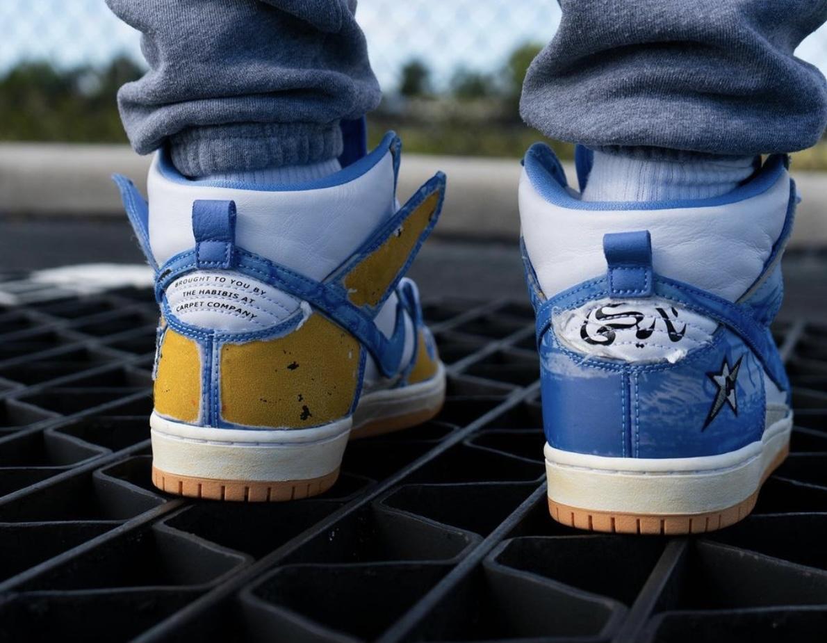 Carpet Company x Nike SB Dunk High CV1677-100 On-Feet