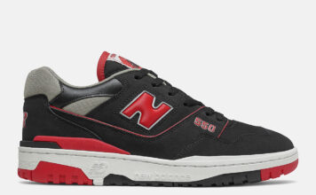 New Balance 550 Black Red BB550SG1 Release Date Info