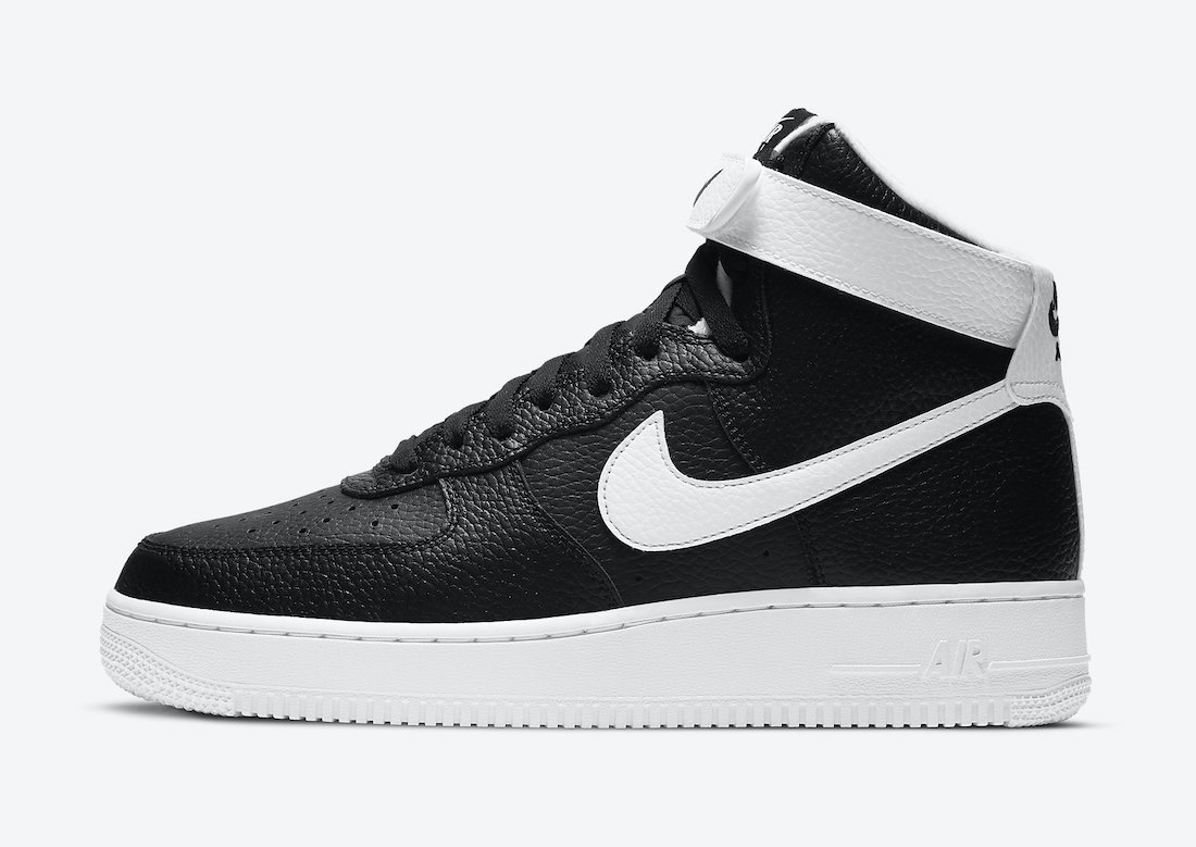 Nike Air Force 1 High Black White CT2303-002 Release Date Info