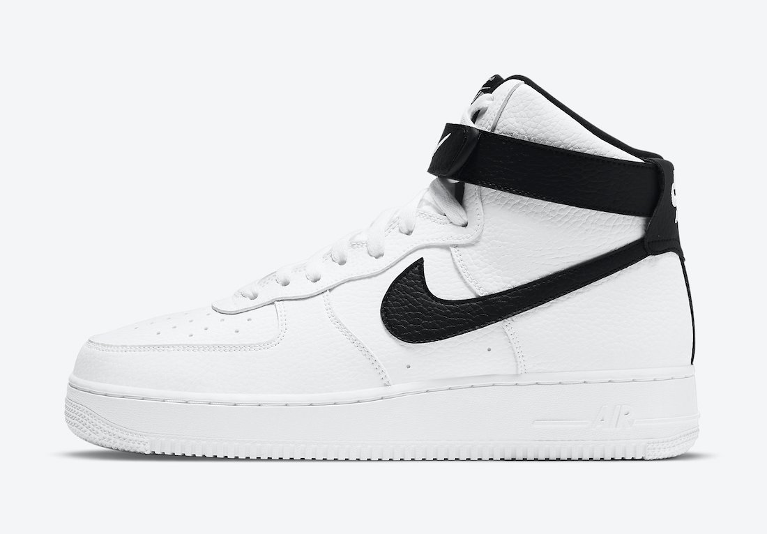 Nike Air Force 1 High White Black CT2303-100 Release Date Info