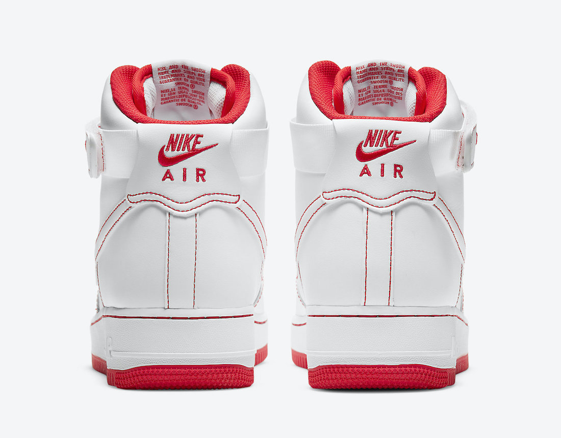 Nike Air Force 1 High White Red CV1753-100 Release Date Info