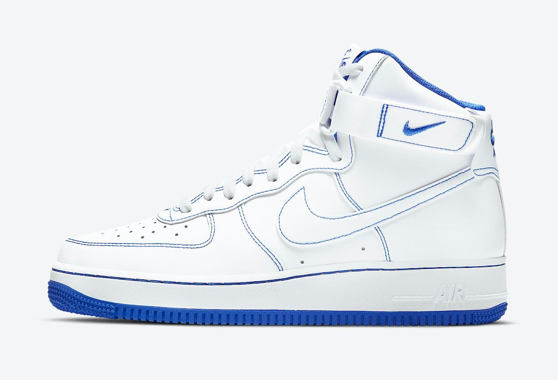Nike Air Force 1 High White Royal Blue CV1753-101 Release Date Info