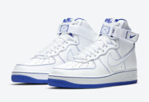 Nike Air Force 1 High White Royal Blue CV1753-101 Release Date Info