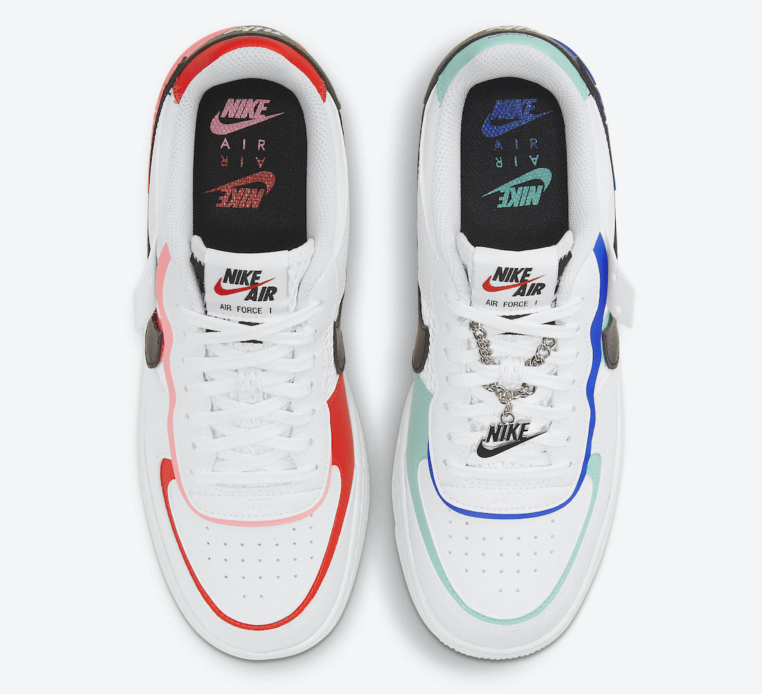 Nike Air Force 1 Shadow White Chile Red Sunset Pulse Black DH1965-100 Release Date Info