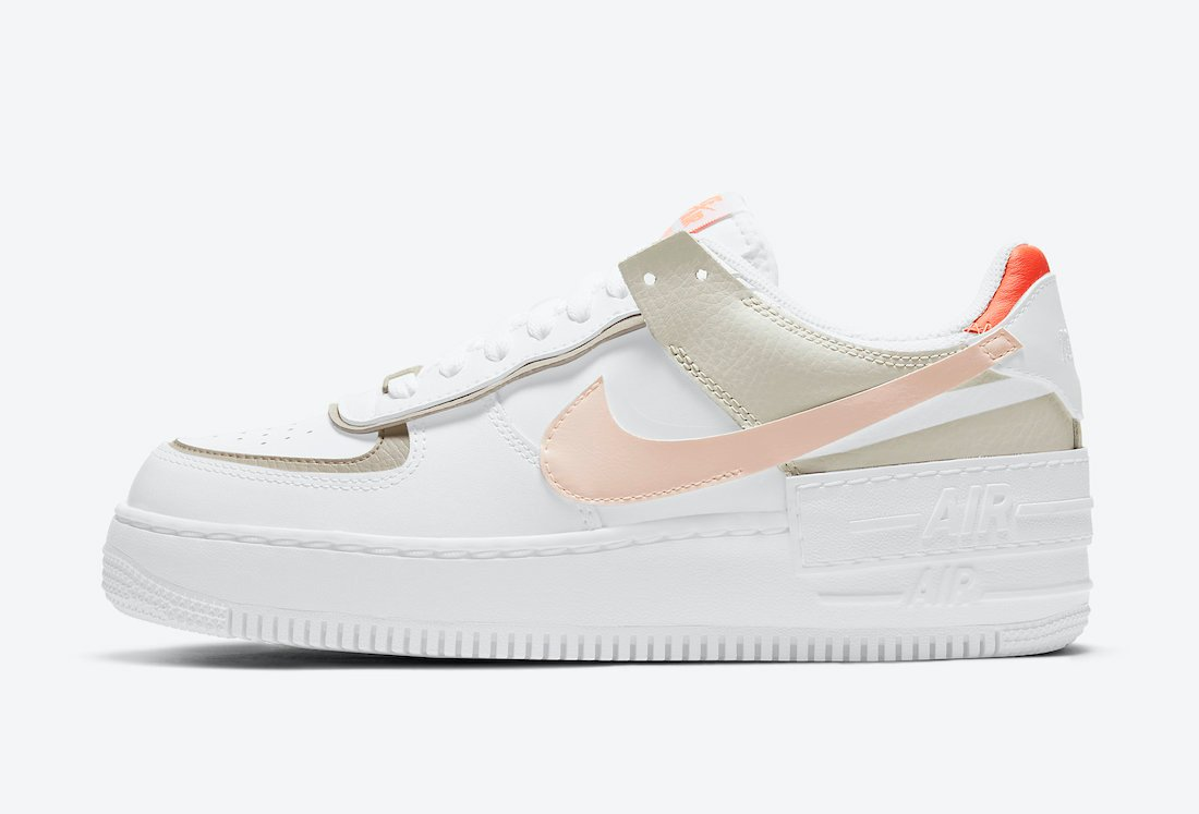 Nike Air Force 1 Shadow White Crimson Tint Bright Mango DH3896-100 Release Date Info