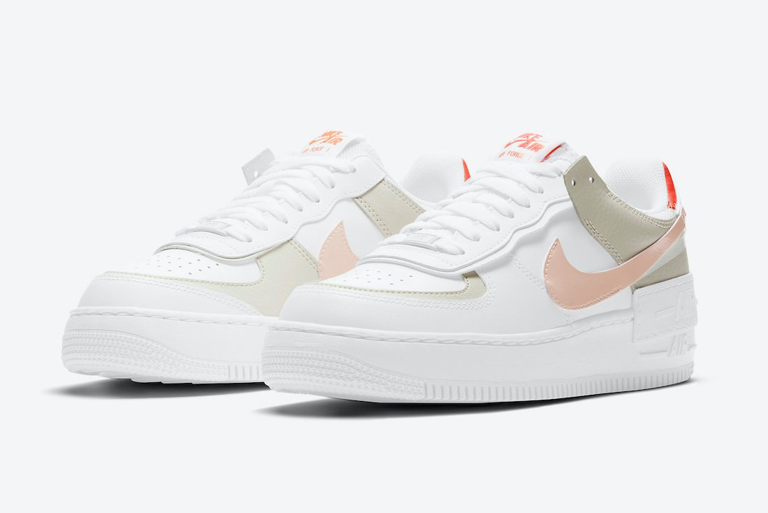 Nike Air Force 1 Shadow in Crimson Tint and Mango