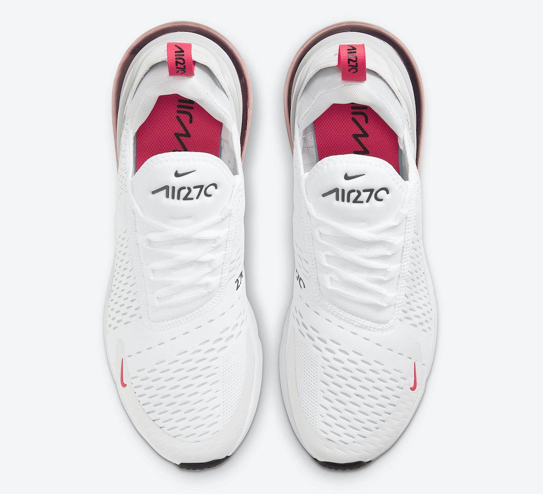 Nike Air Max 270 White Laser Fuchsia DD7120-100 Release Date Info