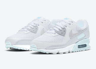 Nike Air Max 90 Grey Ice Blue DH4969-100 Release Date Info