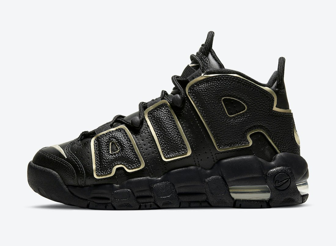 Nike Air More Uptempo GS Black Gold DD3038-001 Release Date Info