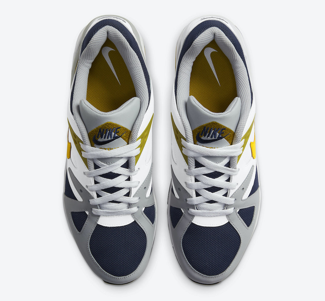 Nike Air Structure Triax 91 Midnight Navy Dark Citron Light Smoke Grey DB1549-400 Release Date Info