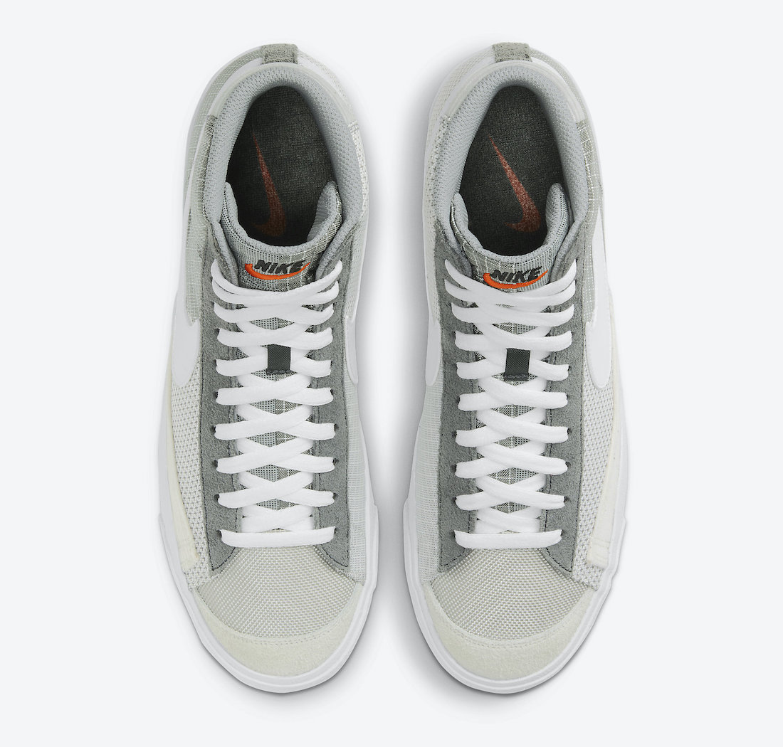 Nike Blazer Mid 77 Patch Smoke Grey White Particle Grey DD1162-001 Release Date Info