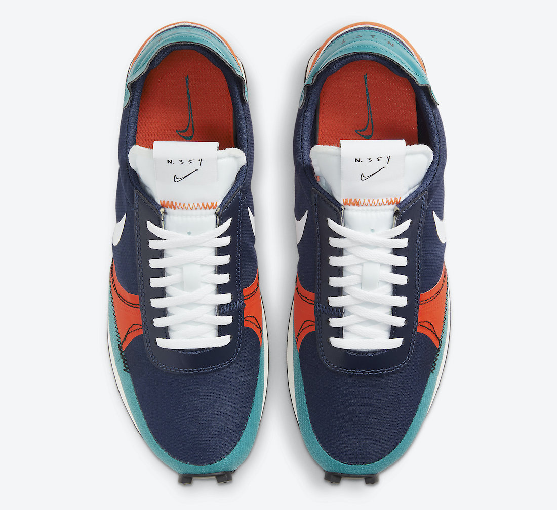 Nike Daybreak Type SE Deep Navy Team Orange Storm Blue White CU1756-403 Release Date Info