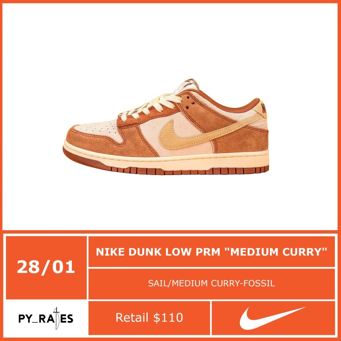 Nike Dunk Low Medium Curry Release Info