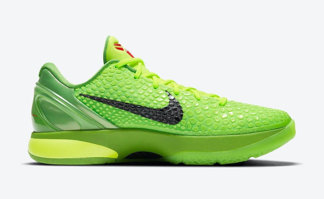 Nike Kobe 6 Protro Grinch CW2190-300 Release Info Price