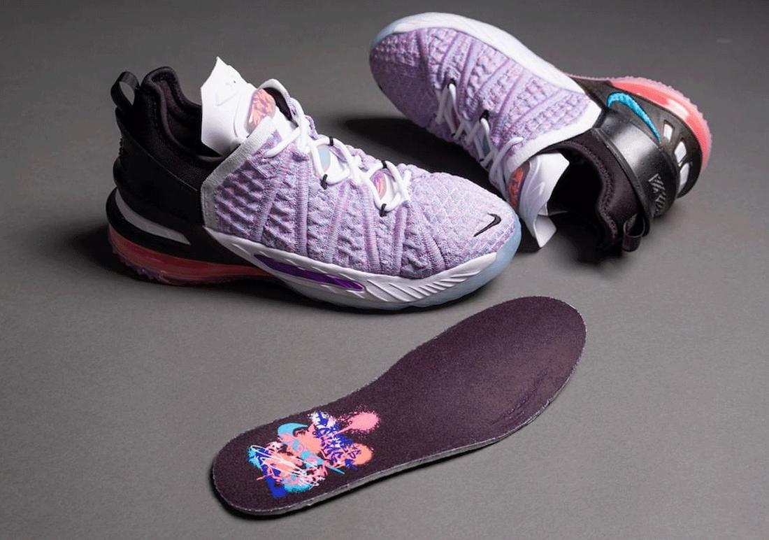 Nike LeBron 18 GS Graffiti CW2760-900 Release Date Info