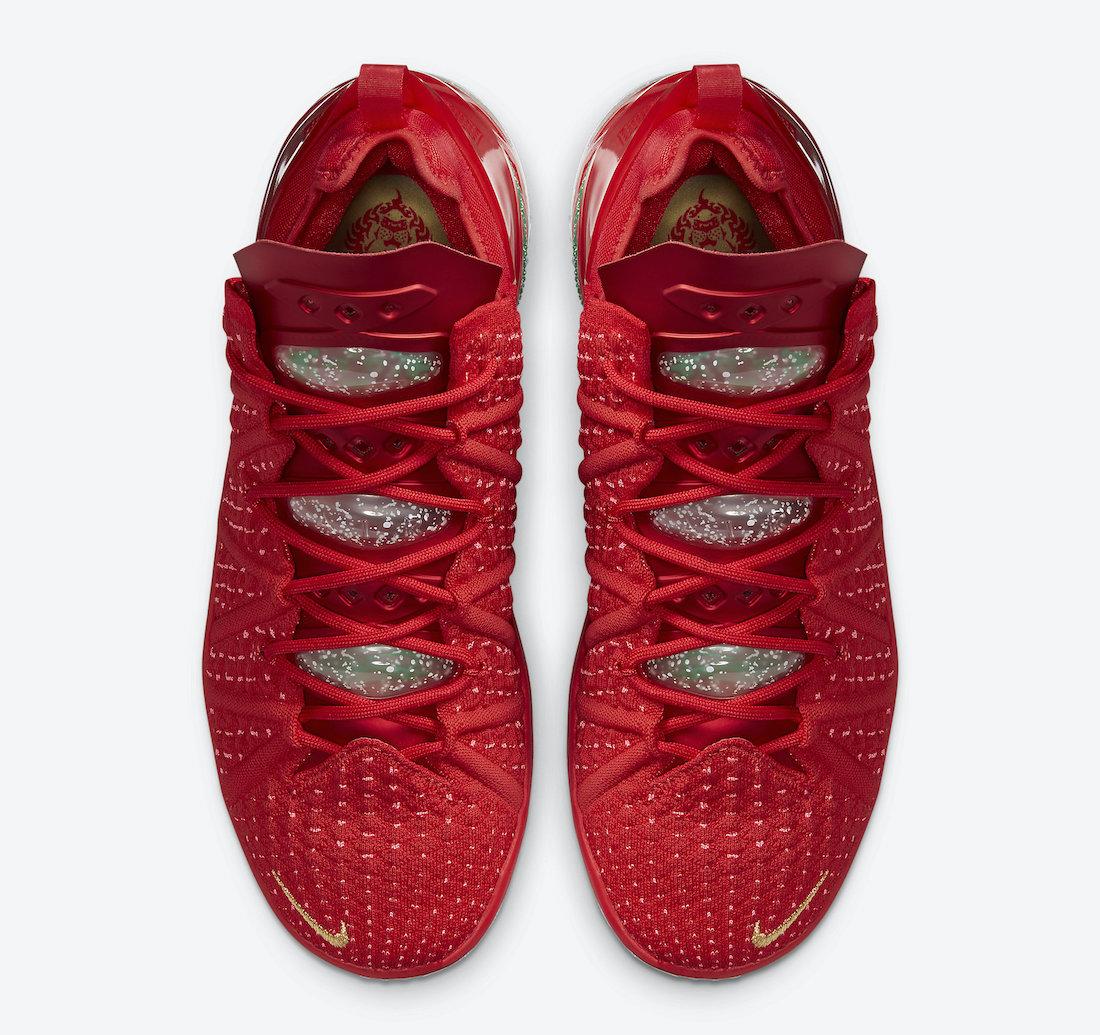 Nike LeBron 18 X-Mas in LA Christmas DB8148-601 Release Date Info