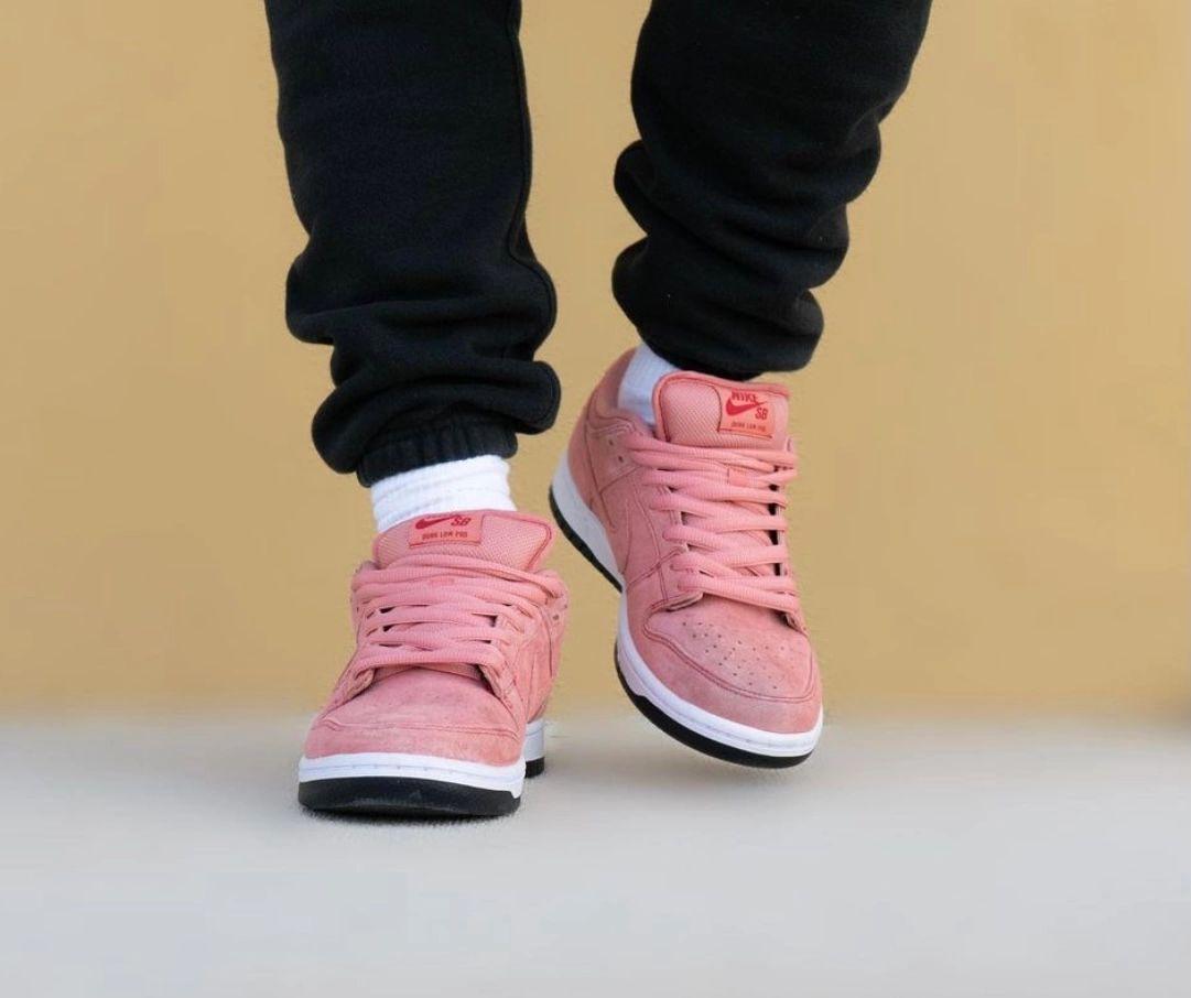 Nike SB Dunk Low Atomic Pink Pig CV1655-600 On Feet