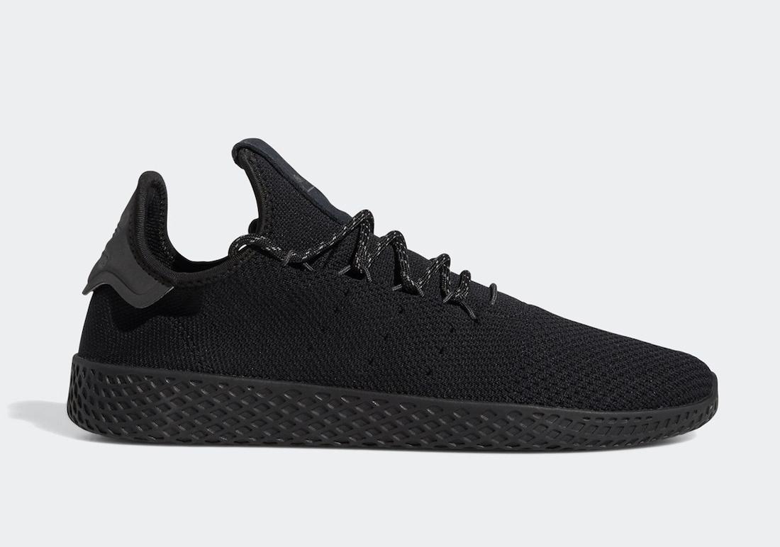 Pharrell adidas Tennis Hu Black GX2484 Release Date Info