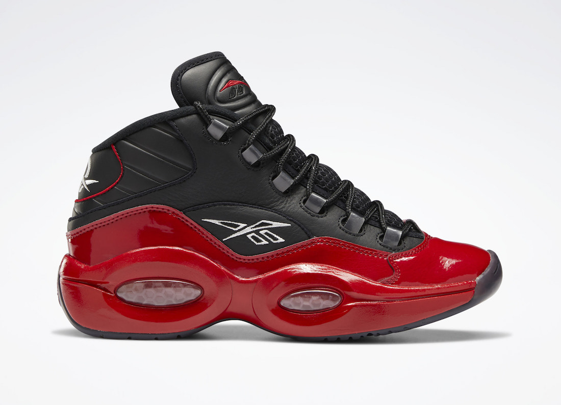Reebok Question Mid 76ers Red Patent G57551