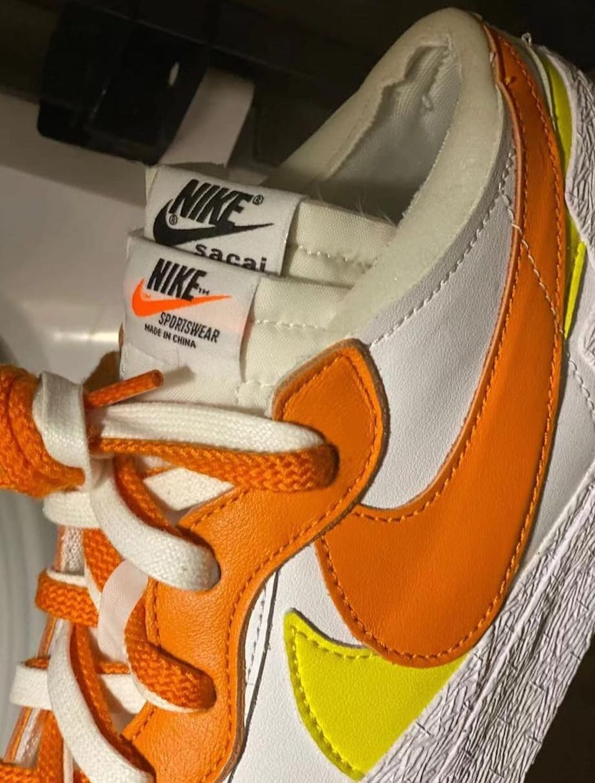 Sacai Nike Blazer Low Magma Orange DD1877-100 Release Date