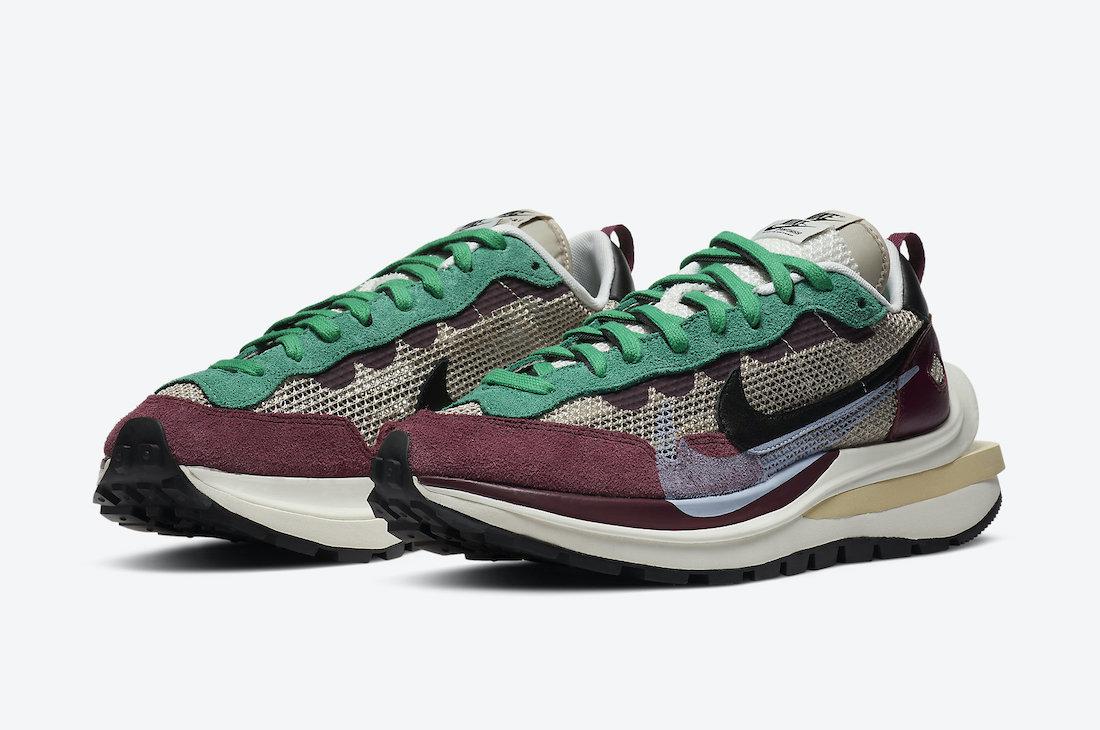 Sacai Nike VaporWaffle Villain Red DD3035-200 Release Date Info
