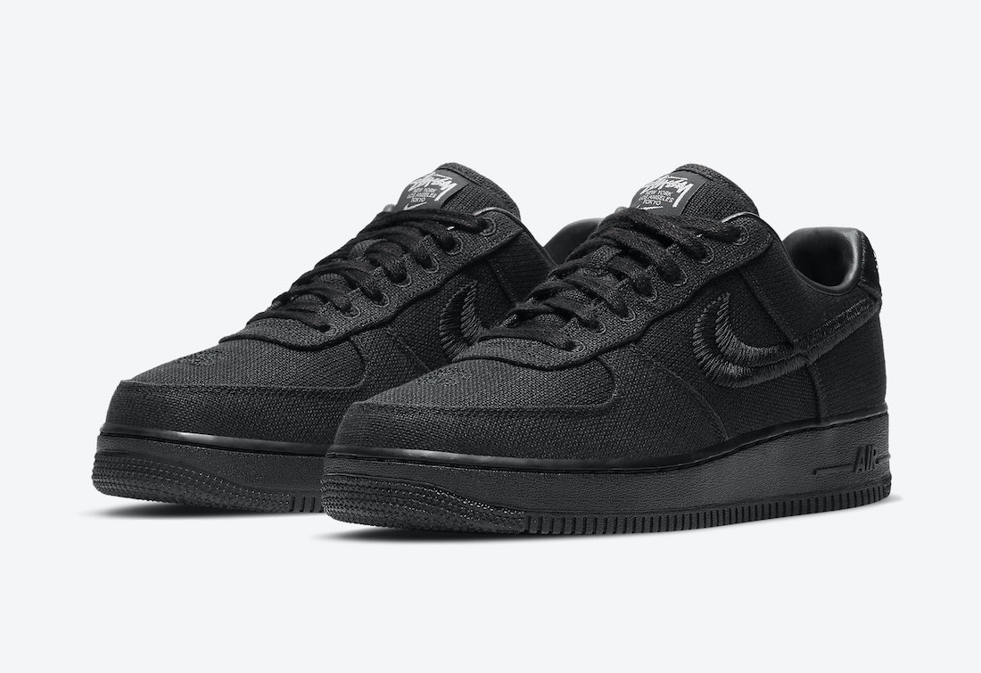 Stussy Nike Air Force 1 Black CZ9084-001 Release Price