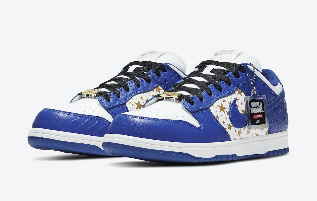 Supreme Nike SB Dunk Low Hyper Blue DH3228-100 Release Info Price