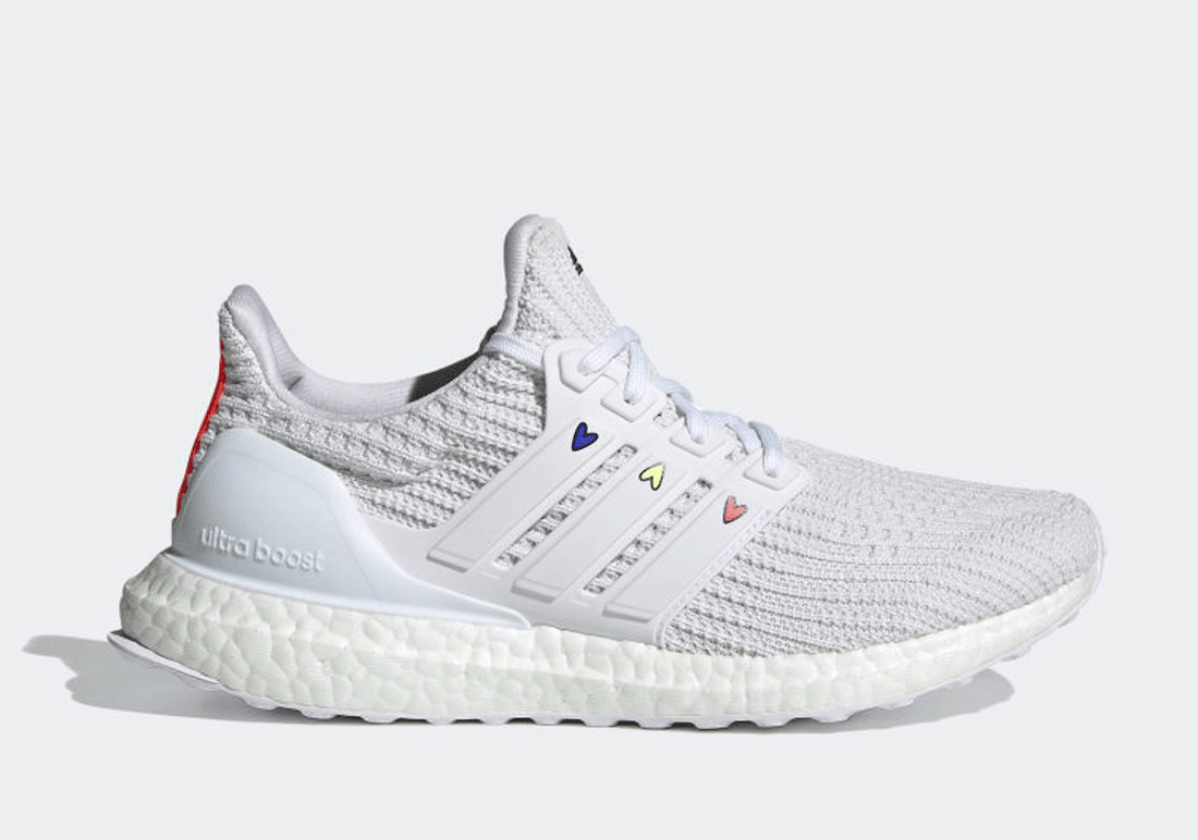 adidas Ultra Boost 4.0 DNA White Hearts GZ9232 Release Date Info