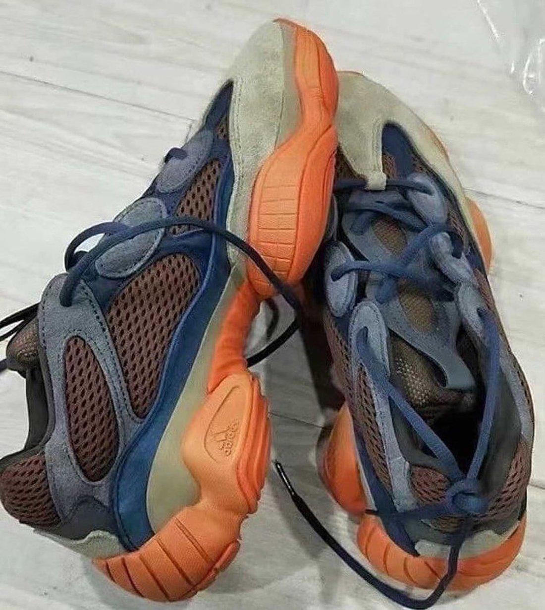 adidas Yeezy 500 Brown Blue Orange 2021 Release Date Info
