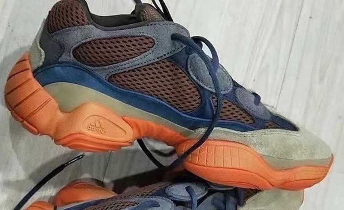 adidas Yeezy 500 Brown Blue Orange 2021